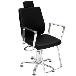 Cadeira de Cabeleireiro Reclinável Croma Kixiki-Preto