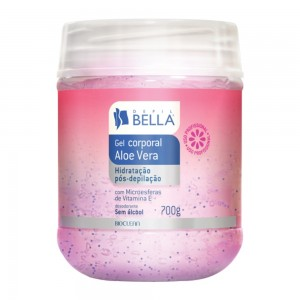 Gel Pós-Depilação Aloe Vera com Vitamina E Depil Bella-700g