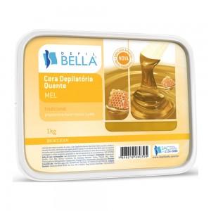 Cera Depilatória Quente Mel com Cera de Abelha Depil Bella-1kg