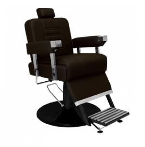 Cadeira de Barbeiro Detroit Base Taça Preto Marri-Café