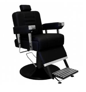 Cadeira de Barbeiro Reclinável Detroit Base Preta Marri-Preto