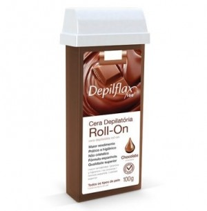 Cera Depilatória Roll-On Chocolate Depilflax