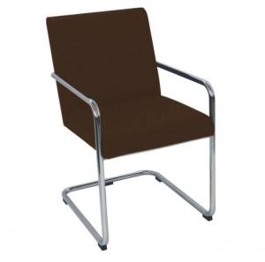 Cadeira de espera Lótus Cromada Kixiki-Café