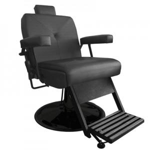 Cadeira de Babeiro Milão Base Taça Preto Marri-Preto
