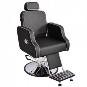 Cadeira Hidráulica Cabeleireiro/Barbeiro Reclínavel Greco Terra Santa-Preto