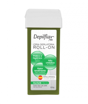 Cera Depilatória Roll-On Hortelã Depilflax