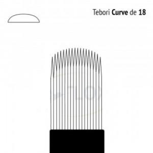 Lâmina Descartável Tebori Curve 18 Pontas Flox