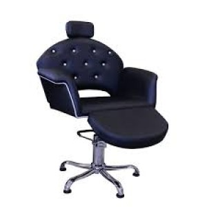Cadeira de Cabeleireiro Velvet com Descanso Para Pés Kixiki