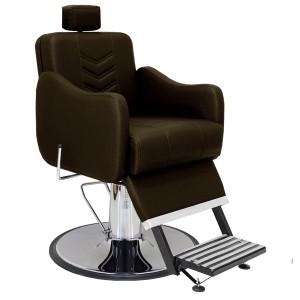Cadeira Hidráulica Barbeiro Base Calice Cromado Reclinável Veneza Marri-Café