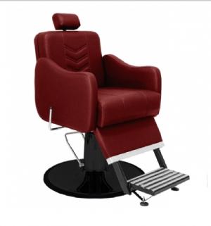 Cadeira de Barbeiro Veneza Base Taça Preto Marri-Bordo