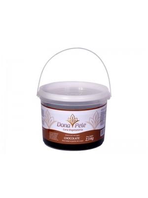 Cera Depilatória Hidrossolúvel Chocolate Dona Pele-2,3kg