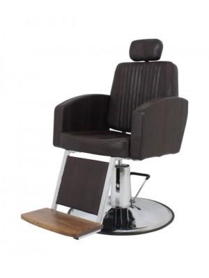 Cadeira para barbearia reclinável Montana base maior - Kixiki